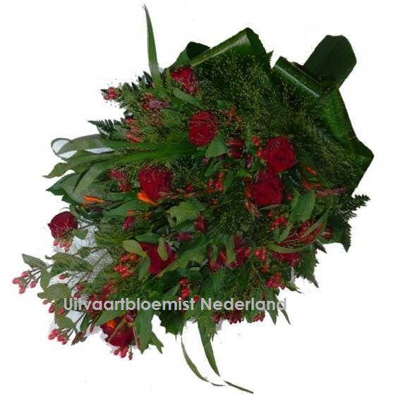 Rouwboeket Rode Rozen Uitvaartbloemist Nederland